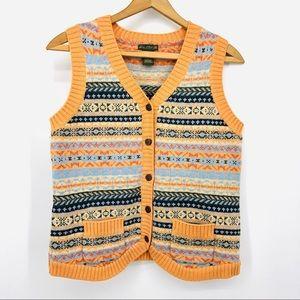 ✨🍂Vintage Fair Isle 100% Merino Wool Sweater Vest